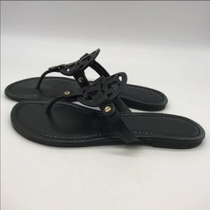 Tory Burch black Miller sandals size 10